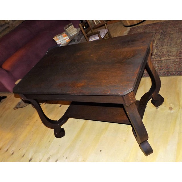 Antique Walnut Library Desk For Sale - Image 6 of 11