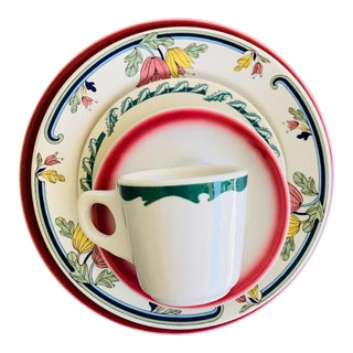 1960s Mismatched Restaurant Ware Place Settings - 5 Pieces For Sale