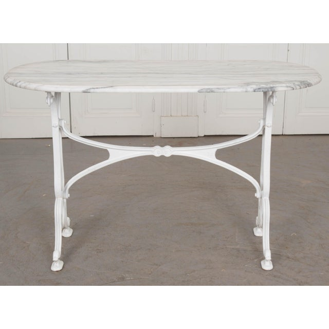 Early 20th Century French Marble Top Bistro Table For Sale In Baton Rouge - Image 6 of 10