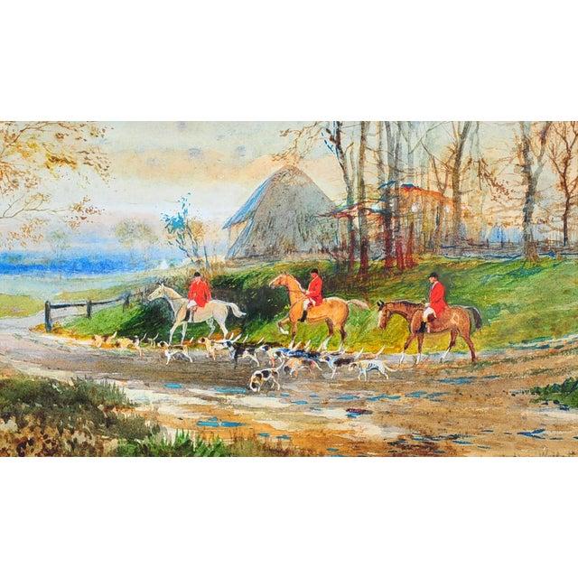 19th Century English Fox Hunt Oil Painting - Image 4 of 8