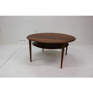 1960s Peter Hvidt & Orla Molgaard-Nielsen for France & Son Teak and Rattan Coffee Table Preview