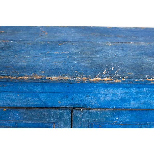 French Country Indigo Painted Buffet For Sale - Image 3 of 13