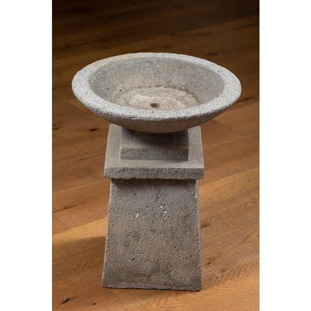 Gray American Cast Concrete Garden Planter For Sale - Image 8 of 9