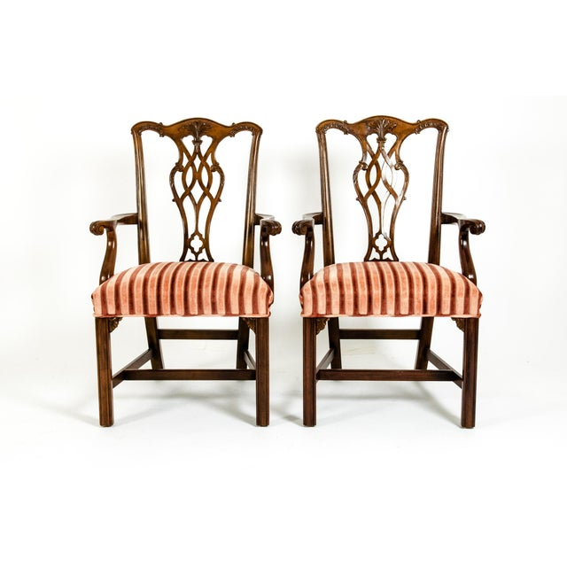 George III Style Mahogany Dining Chairs - Set of 8 For Sale - Image 9 of 13