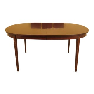 Henkel Harris Inlaid Federal Mahogany Dining Room Table