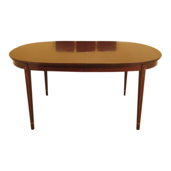 Henkel Harris Inlaid Federal Mahogany Dining Room Table For Sale