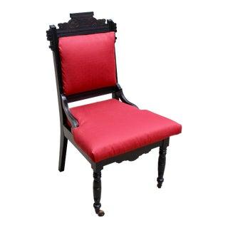 Vintage Carved Art Deco Chair Caster Wheels For Sale