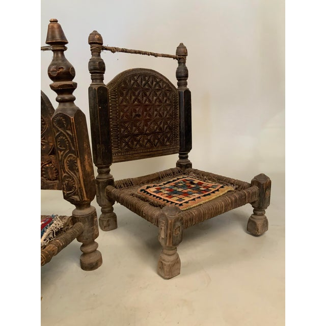 Late 19th Century 19th Century Tribal Bedouin Chairs - Set of 4 For Sale - Image 5 of 12