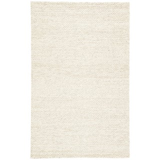Jaipur Living Karlstadt Handmade Solid Taupe/ White Area Rug - 9′ × 12′ For Sale
