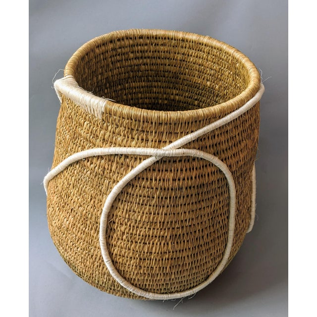 Swaziland Handwoven African Basket For Sale - Image 10 of 11
