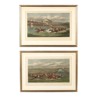 Mid 19th Century Henry Alken Antique Horse Racing Etchings - a Pair For Sale