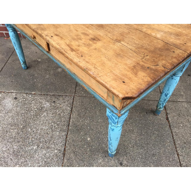 Antique American Pine Farm Table - Image 11 of 11