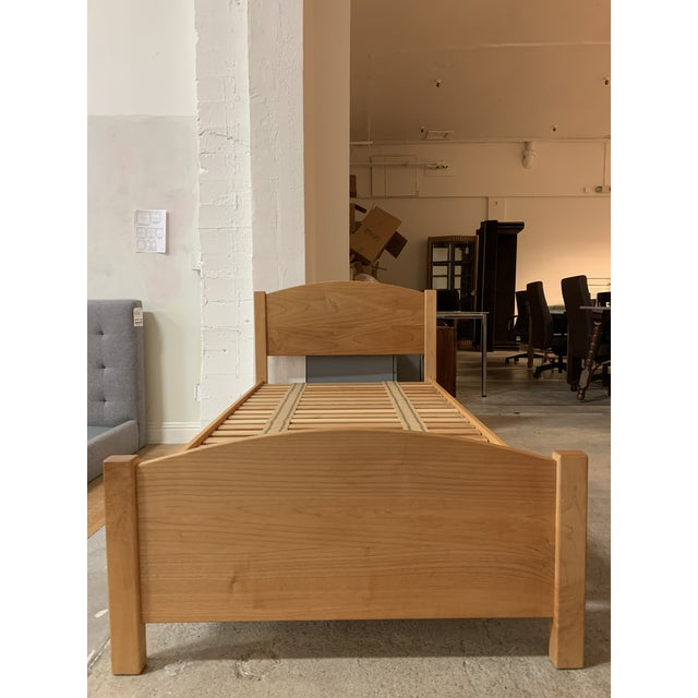 """Design Plus Gallery presents a Pacific Rim """"The Classic"""" Solid Maple Twin + Integrated Storage. Two rolling drawers slide..."""
