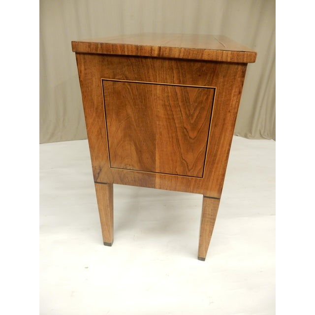 French Late 19th C Italian Walnut Louis XVI Commode For Sale - Image 3 of 7