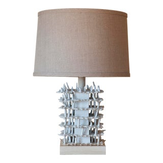 White Reef Lamp by Clate Grunden For Sale