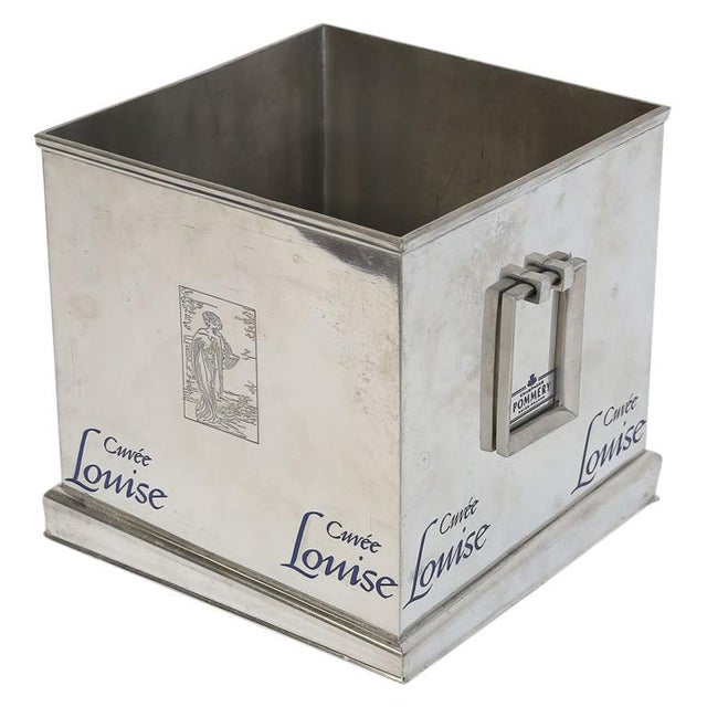 Pommery Cuvee Louise Square Champagne Cooler For Sale - Image 9 of 9