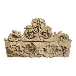 Patinated Terra Cotta Architectural Piece on Stand, France C. 1900 For Sale