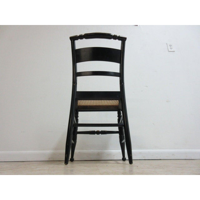 Vintage Hitchcock Style Cane Seat Side Chair For Sale - Image 9 of 10