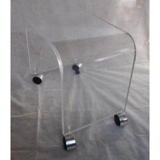 Mid-Century Modern Lucite Vanity Bench Preview