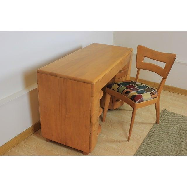Heywood-Wakefield Kneehole Desk & Chair - Image 4 of 9