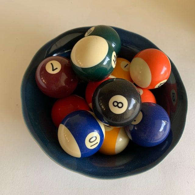 Bowl of Billiard Balls, Pool Balls, Set of Fourteen For Sale - Image 12 of 12
