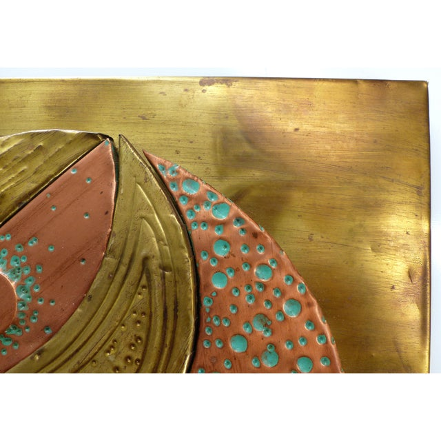 Mixed Metals Sculptural Brutalist Wall Plaque For Sale - Image 9 of 10