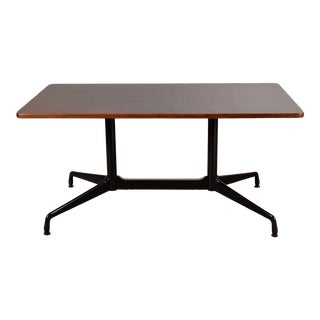 Eames Herman Miller Aluminum Group Conference or Dining Table Rosewood & Black For Sale