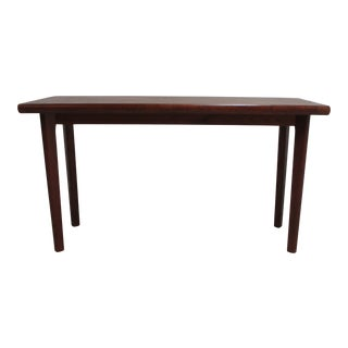 Vintage Danish Modern Teak Foyer Table For Sale