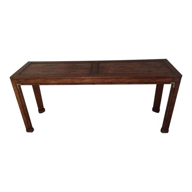 Burled Wood Sofa Table - Image 1 of 3