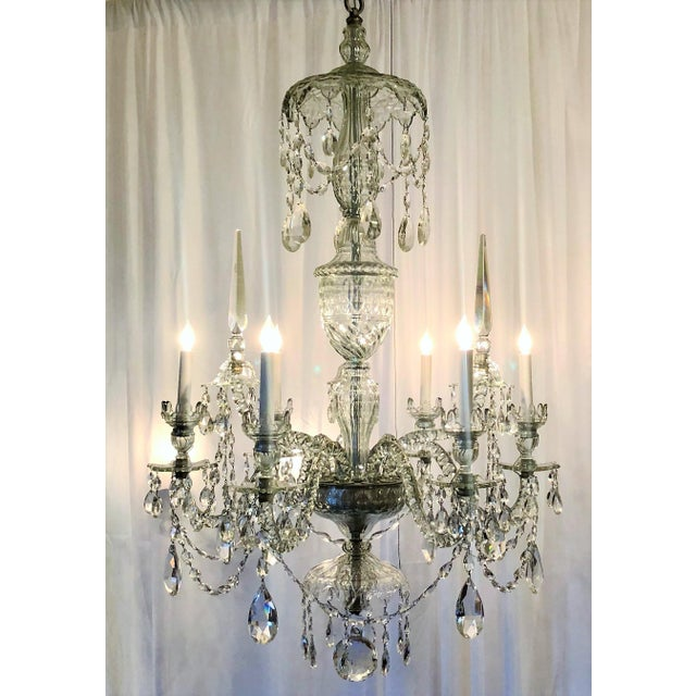 Belle Epoque Antique Superb Quality Waterford Lead Crystal Chandelier, Circa 1880-1900. For Sale - Image 3 of 3