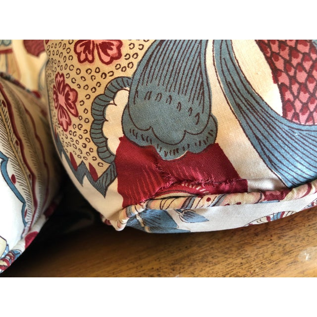 1970s Vintage 1970s Down Sofa in Fabulous Print Upholstery For Sale - Image 5 of 13