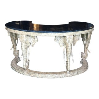 Marble Top Casa Bique Style Elephant Desk For Sale