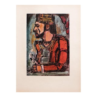 """1950s Georges Rouault, """"The Old King"""" Original Period Lithograph For Sale"""