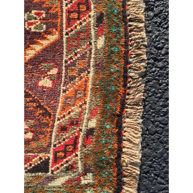 """Red Vintage Persian Qashqai Area Rug - 4'10"""" x 7'10"""" For Sale - Image 8 of 11"""