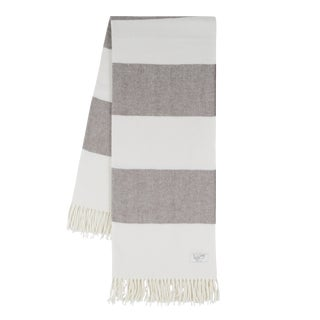 Barnwood Rugby Stripe Throw For Sale