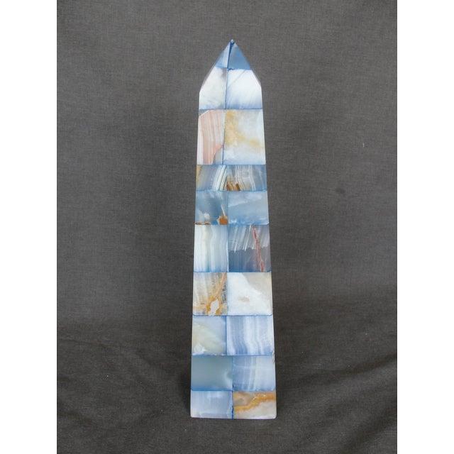 Blue & Brown Onyx Obelisk - Image 3 of 7