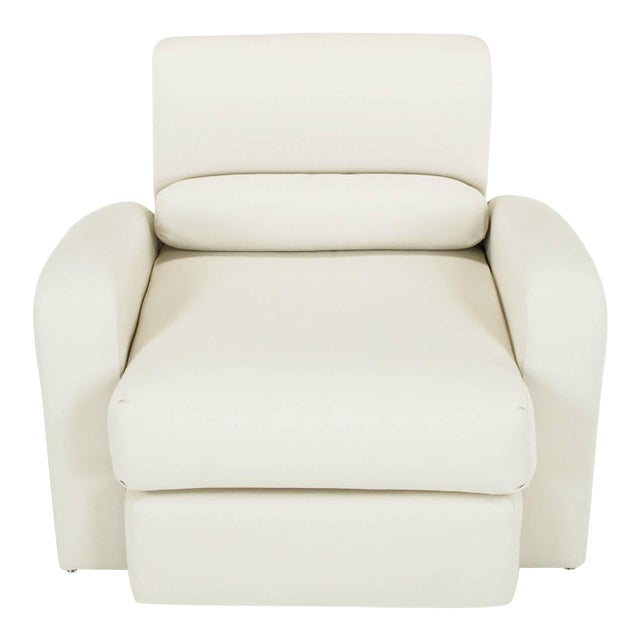 Jay Spectre Steamer Lounge Chair with Ottoman - Image 1 of 6