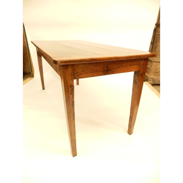 French Provincial Walnut Farm Table For Sale - Image 4 of 6