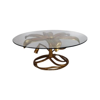Mid Century Arthur Court Gilded Lily Coffee Table For Sale