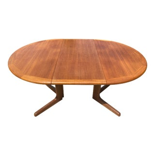 Mid-Century Modern Teak Extendable Dining Table For Sale