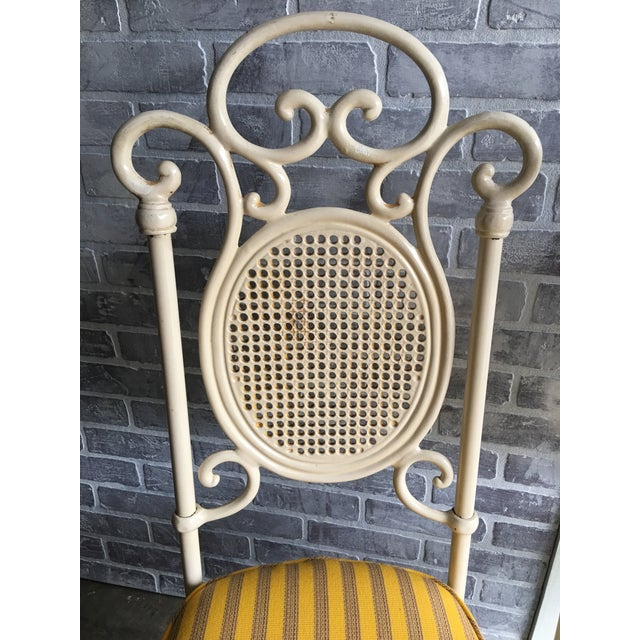 Yellow Vintage Victorian White Cast Iron Dining Set For Sale - Image 8 of 13