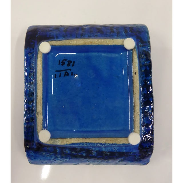 1960s Aldo Londi for Bitossi Italian Modern Rimini Blue Small Ashtray For Sale In Miami - Image 6 of 7