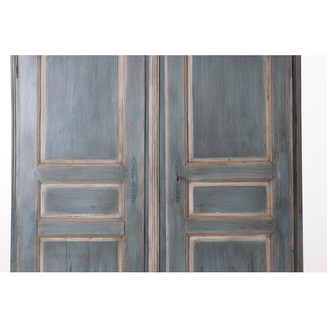 French Early 19th Century Painted Cherry Armoire - Image 3 of 10