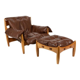 Sergio Rodrigues Sheriff Lounge Chair & Ottoman For Sale