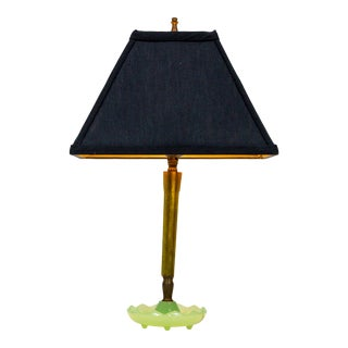 Mid-Century Resin & Jadeite Dressing Table Lamp For Sale