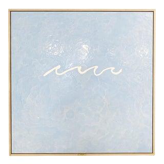 "John O'Hara. Wave, Blue. 49x49"" Encaustic Painting For Sale"