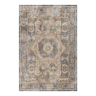 "Fairview Phillip Navy Traditional Area Rug - 5'3"" x 7'3"" For Sale"