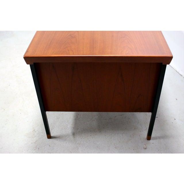 Vintage Danish Modern Arne Vodder for Jon Stuart Teakwood Writing Desk For Sale - Image 10 of 12