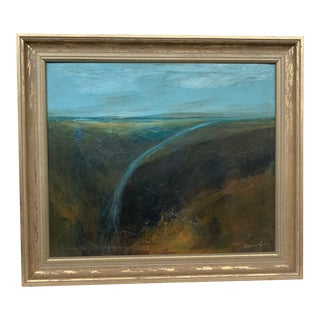 Original Signed 1980s Seascape Oil on Canvas Painting For Sale