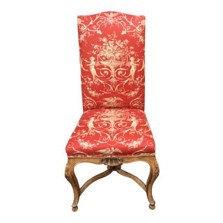 Minton Spidell L'Avant Dining Side Chair W Dessin Fournir Red Toile